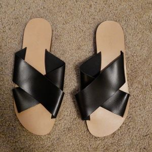 TOPSHOP criss cross sandals